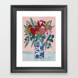 Australian Native Bouquet of Flowers after Matisse Framed Art Print