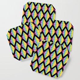 Abstract [RAINBOW] Emeralds pattern Coaster