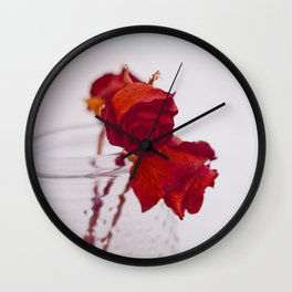 red rose. Wall Clock