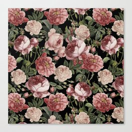 Lush Victorian Roses Canvas Print