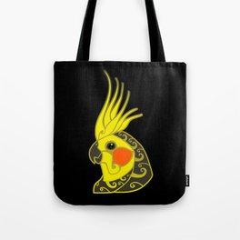 Cockatiel parrot tribal tattoo Tote Bag