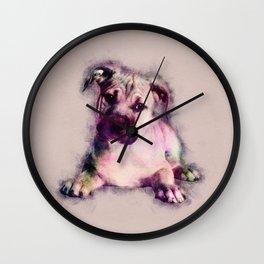 American Staffordshire Terrier - Amstaff Puppy Wall Clock