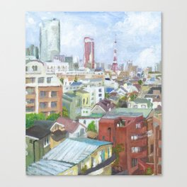 A view with Tokyo tower and Roppongi Hills Canvas Print