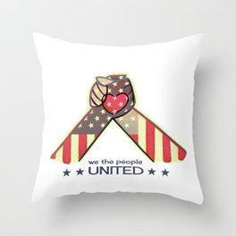 United Hands Throw Pillow