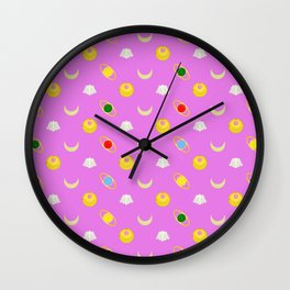 Sailor Moon Pattern Wall Clock