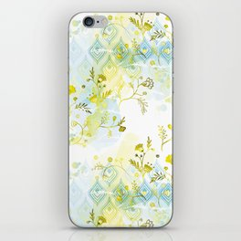 Oasis Floral Pattern iPhone Skin