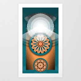 "Egyptian Revivalism and Art Deco ""Eclipse"" Art Print"