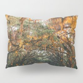 Tree Lined Road Pillow Sham