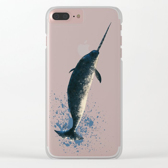 """""""Jackson the Narwhal"""" by Amber Marine ~ Art (Copyright 2015) Clear iPhone Case"""