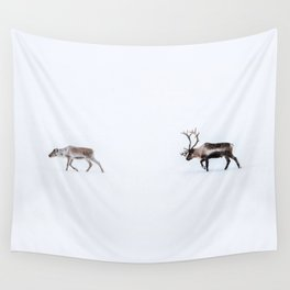 Love follows the reindeers Wall Tapestry
