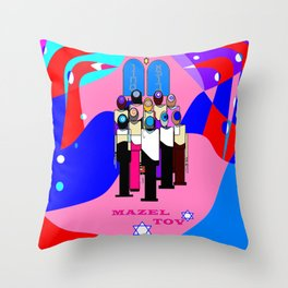 A Bat Mitzvah and Red Sea Throw Pillow