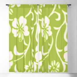 Y2K Surfer Flowery Pattern Green Blackout Curtain