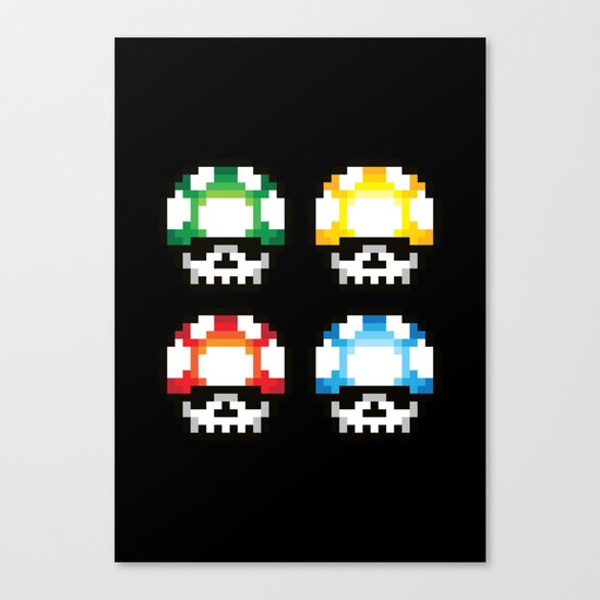 Skull Mushroom Canvas Print