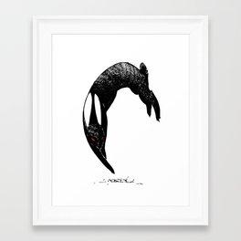 back rabbit of inle Framed Art Print