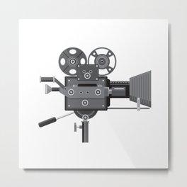 Vintage Movie Film Camera Retro Metal Print