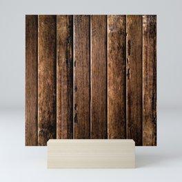 Farmhouse Wood Slats Wood Design Mini Art Print