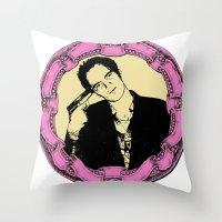 tarantino Throw Pillows featuring Tarantino by Guido prussia