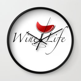 Wine Life Wall Clock