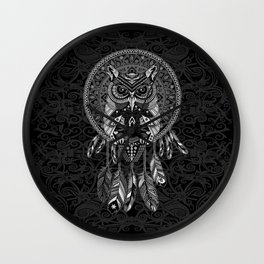 Indian Native OwL Dream Catcher iPhone 4 4s 5 5s 5c, ipod, ipad, pillow case and tshirt Wall Clock