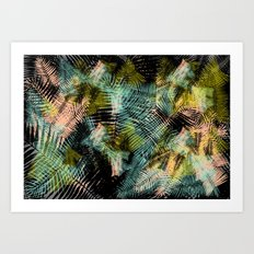 PALM COLLAGE Art Print