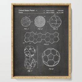 Soccer Ball Patent - Football Art - Black Chalkboard Serving Tray