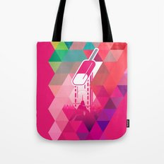 Raspberry Popsicle Tote Bag