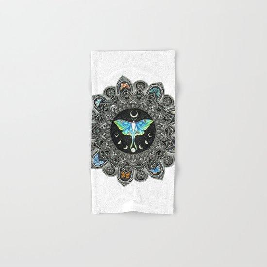 Lunar Moth Mandala Hand & Bath Towel