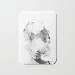 LORELEI beautiful girl digital collage abstract smoking woman Bath Mat
