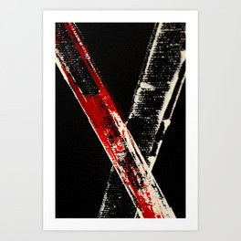 Bamboo Red Cross Art Print