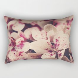 hydrangea - pink freckles Rectangular Pillow