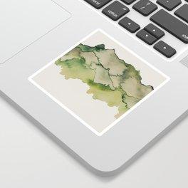 green mountains Sticker