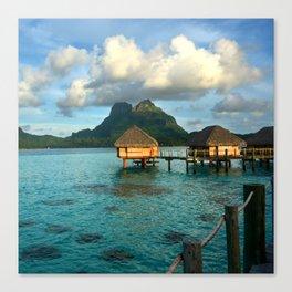 Bora Bora Tahiti Bungalow 2 Canvas Print