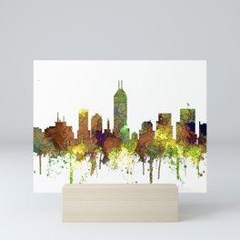 Indianapolis, Indiana Skyline SG - Safari Buff Mini Art Print