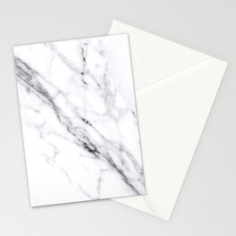 Carrara White Marble Stationery Cards