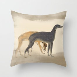 Two Sighthounds Throw Pillow