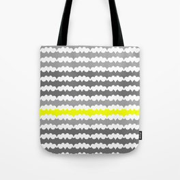 Gray and Yellow Abstract Pillow Tote Bag