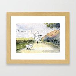 Slackline Framed Art Print
