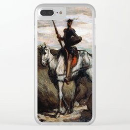 Honore Daumier - Don Quixote in the mountains Clear iPhone Case