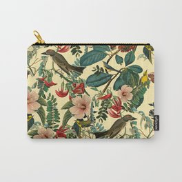 FLORAL AND BIRDS VII Carry-All Pouch