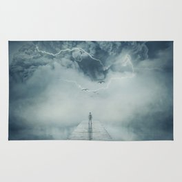 into the storm Rug
