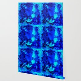 psychedelic color gradient pattern splatter watercolor blue Wallpaper