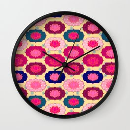 Lotus pattern Wall Clock