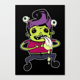 Happy With Purple Elvis Canvas Print