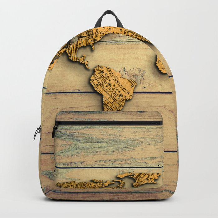 Vintage world map backpack by mapmaker society6 vintage world map backpack publicscrutiny Images