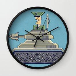 General Mayhem — cartoony vector illustration Wall Clock