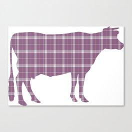 Cow: Purple Plaid Canvas Print