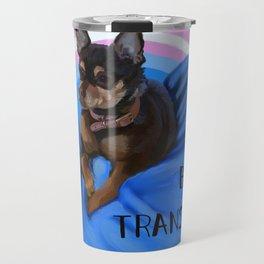 I Bite Transphobes-blue Travel Mug