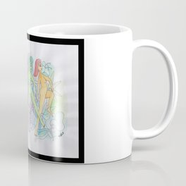 flowers and girls colored Coffee Mug