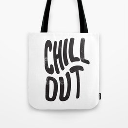 Chill Out Vintage Black and White Tote Bag