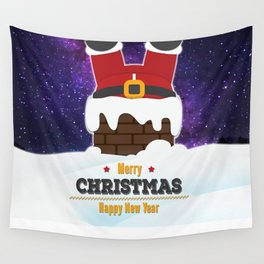 Journey of Santa Wall Tapestry